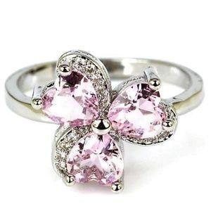 Jewelry - Kunzite Gemstone and Sterling Silver.925 Sz 7